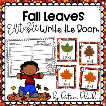 Fall Leaves- Editable Write the Room