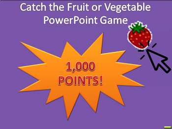 Catch the Fruit Fun PowerPoint Game for Time Filler