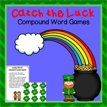 Catch the Luck Compound Word Freebie
