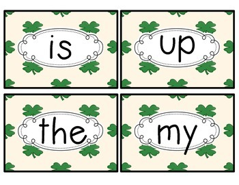 Catch the Leprechaun Sight Word Pocket Chart Game