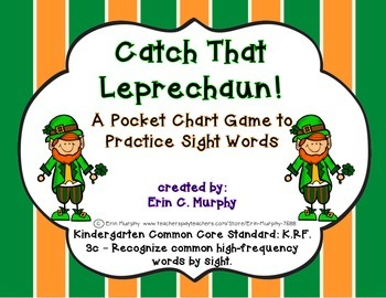 Catch the Leprechaun Sight Word Pocket Chart Game