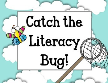 Catch the Literacy Bug! Bulletin Board Set. Reading Butterflies Bugs