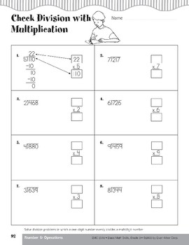 Catch the Lost Calf (Division of multidigit numbers by one-digit numbers)