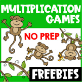 Multiplication Games Freebie for Fact Fluency