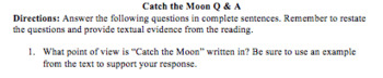 Catch the Moon Reading Questions