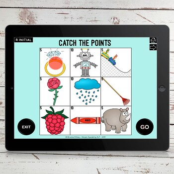 Catch the Points No Print Articulation Speech Game for iPad or Telehterapy