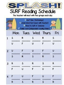 *BEACH Theme* Catch the READING Wave! Independent Reading Workshop Center Folder