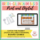 Catch the Rabbit Words! (VC/CV Syllable Division Board Games)   Print & Digital
