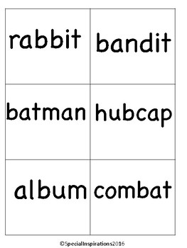Catch the Rabbit! (a VC/CV Rabbit Words Game) Orton-Gillingham Inspired