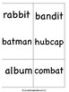 Catch the Rabbit! (a VC/CV Rabbit Words Game) Orton-Gillin