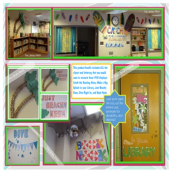 Beach Decor for Classroom or Library Media Center