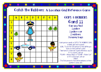 Catch the Robbers: A Coordinate Grid Location Game