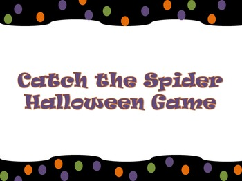 Catch the Spider Halloween Game