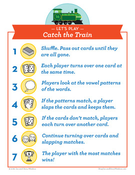 Catch the Train Long A Phonics Game - Words Their Way Game