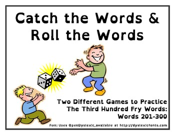 Catch the Words and Roll the Words - Word Work Games for Fry Third Hundred
