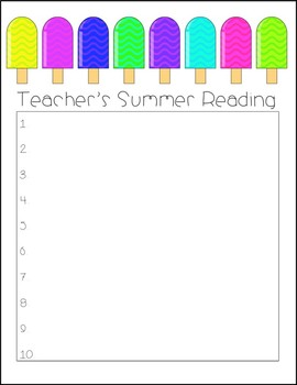 Teacher's Summer Reading List