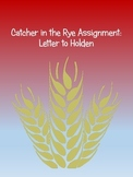 Catcher in the Rye: A Letter to Holden