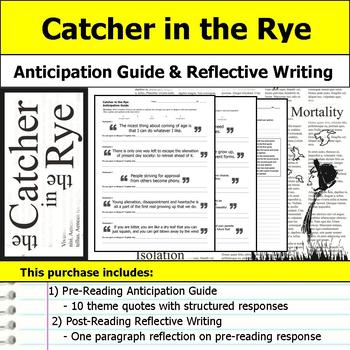 Catcher in the Rye - Anticipation Guide and Post Reading Reflection