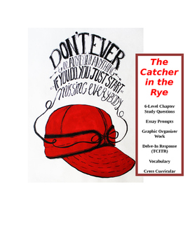 Catcher in the Rye ~ COMMON CORE Master Packet (18 pages)