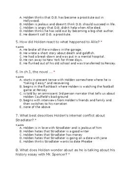 Catcher in the Rye Ch.1-10 Quiz