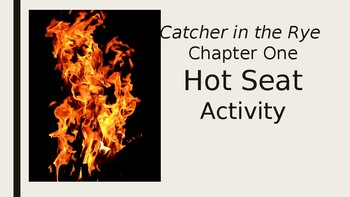 Catcher in the Rye Chapter 1 'Hot Seat' Activity Review Game