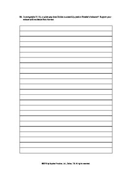 Catcher in the Rye Chapter 25 English skills worksheet by Applied Practice