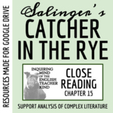 Catcher in the Rye Close Reading of Chapter 15 - Distance