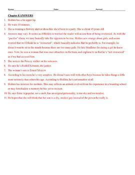 Catcher in the Rye (Salinger)  Reading Guide