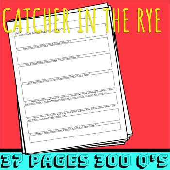Packet -- Reading Guide Catcher in the Rye (Salinger)