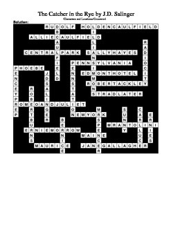 Catcher in the Rye - Crossword Puzzle