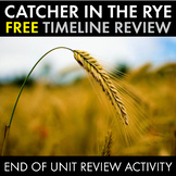 Catcher in the Rye, FREE Timeline End-of-Unit Review for J