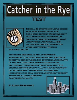 Catcher in the Rye Novel Test