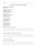Catcher in the Rye Poetry Packet