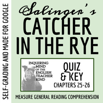 Catcher in the Rye Quiz - Chapters 25-26