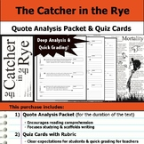 Catcher in the Rye - Quote Analysis & Reading Quizzes