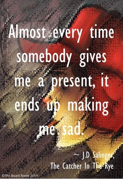 catcher in the rye quote posters by the board room tpt
