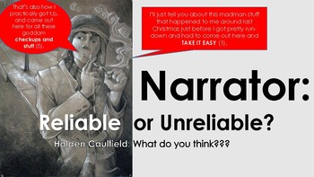 Catcher in the Rye - Unreliable Narrator PowerPoint Style