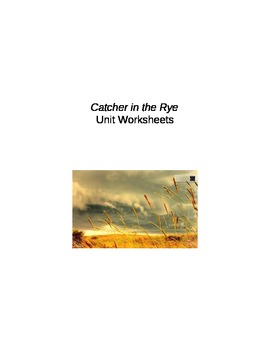 Catcher in the Rye Whole Unit