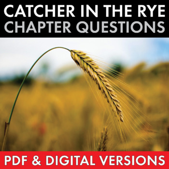 Catcher in the Rye, Worksheets Quizzes Discussion & HW for J.D. Salinger's Novel