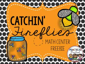 Catchin' Fireflies Summer Math Center Preschool Sneak Peek