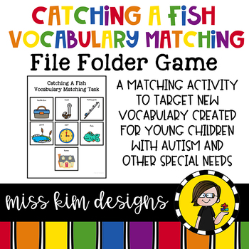 Catching A Fish Vocabulary Folder Game for Special Education