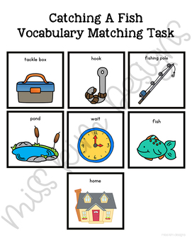 Catching A Fish Vocabulary Folder Game for Students with Autism & Special Needs