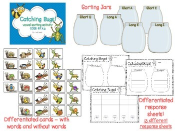 Catching Bugs - A Vowel Sorting Activity