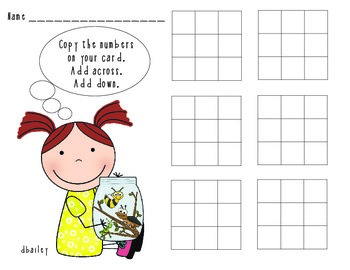 Catching Bugs Addition Magic Squares