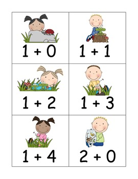 Catching Bugs Addition and Subtraction to Five Game and Board