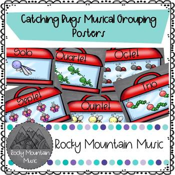 Catching Bugs Musical Groupings Poster Set