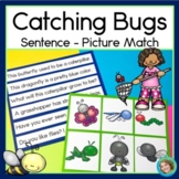 Insects Catching Bugs Sentence Picture Match Reading Center