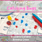 Catching Bugs- Summertime Sight Word Game- Editable