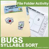 Catching Bugs Syllable Count File Folder Game