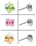 Catching Butterflies Math Center (Adding Tens)